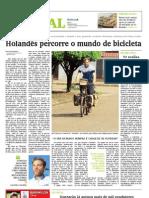 Holandês percorre o mundo de bicicleta