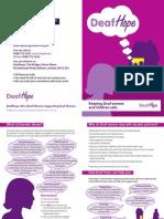 DeafHope Deaf Leaflet A5
