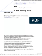 Military Times Poll Romney Bests Obama, 2-1