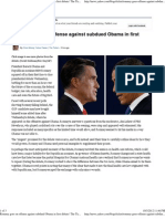 Romney Goes on Offense Against Obama