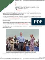 U of Col Model -Romney Will Beat Obama in 2012 El