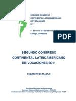 Celam - Congreso de Vocaciones 2011 (Documento de Trabajo)