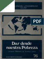 Celam - Dar Desde Nuestra Pobreza