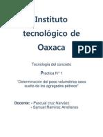 Instituto tecnológico de Oaxaca ptractica 1 concreto