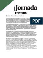 Ejercicio democrático en Venezuela