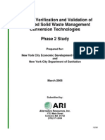 NYC Study of Waste-to-Energy Technology
