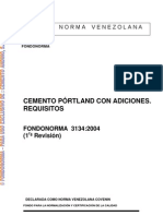Cemento Pórtland con adiciones. Requisitos 3134-2004