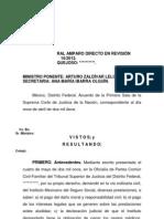 120900-Sentencia Amparo Revision Sobre NEGLIGENCIA IMSS