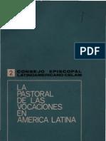 Celam - La Pastoral de La Vocaciones en America Latina