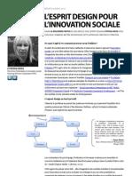 L'esprit design pour l'innovation sociale - la deuxième partie