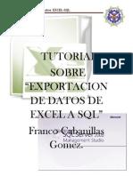TutorialExportaciob Excel SQL