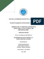 DISEÑO DE UN SISTEMA DOMÓTICO APLICADO A UNA CLÍNICA DE HEMODIÁLISIS