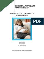 Ensayo Sobre Relaciones Sexuales en La Adolescencia
