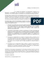 """Carta al Rector sobre Seminario """"No discriminación; alcances en la Educación"""""""