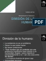 6DIMISIÓN DE LO HUMANO