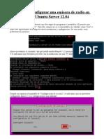 Configurar Una Radio en Ubuntu Server 12_04