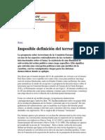Imposible definición del terrorismo