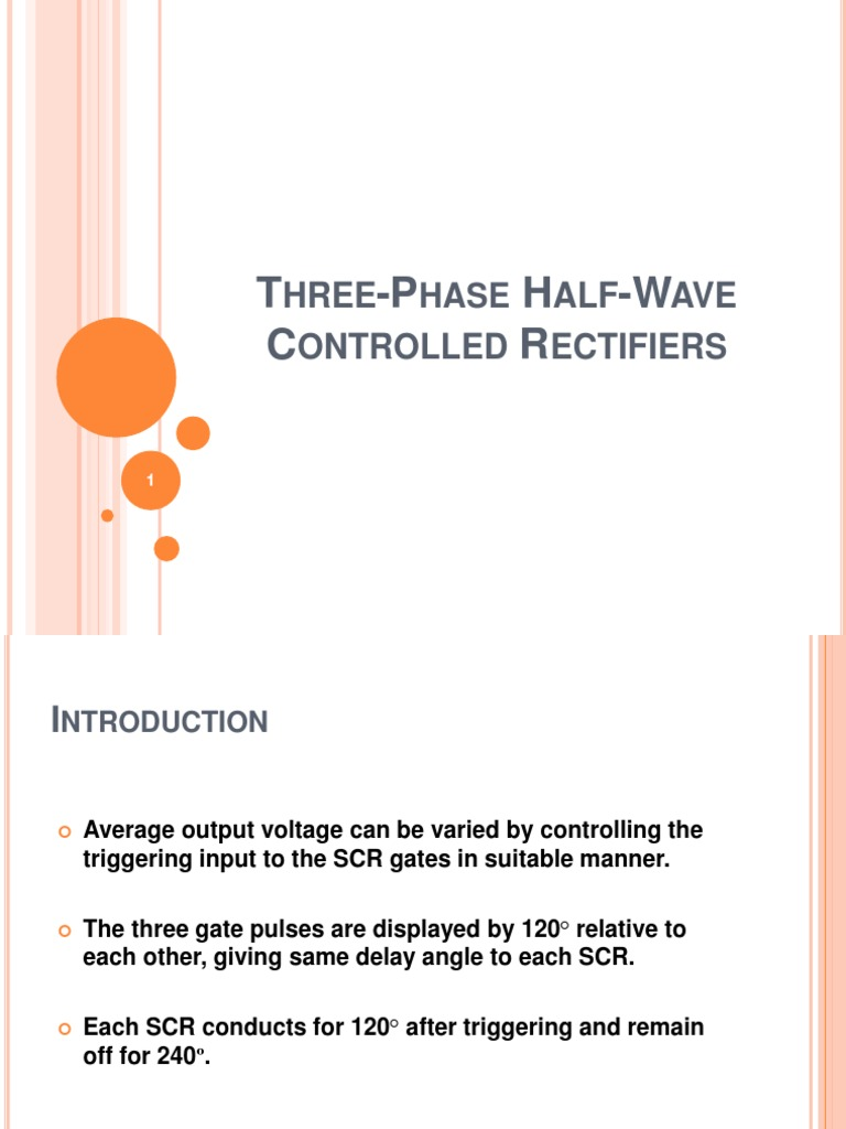 Ch2 Slides Three Phase Scr Rectifier As Half Wave