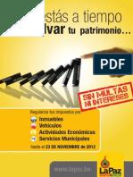 Cartilla Informativa Impuestos Municipales La Paz