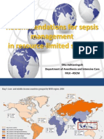 Recommendations for Sepsis Management in Limited Sources