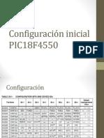 Configuración inicial PIC18F4550