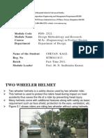 Tw owheeler Helmet study