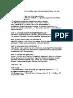 datastructures syllabus