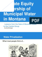 Private Equity Ownership of Public Water Supplies in Montana Presentation