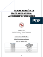 Service Quality Gap Analysis in State Bank of India