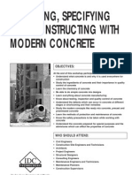 Designing, Specifying and Constructing With Modern Concrete