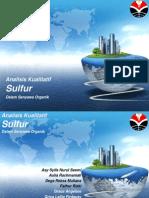 Analisis Kualitatif Sulfur