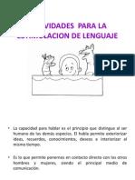 Actividades Para La Estimulacion de Lenguaje