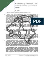 Insurance Law final exams 2008 - Atty. Efren Dizon
