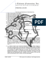 Public International Law midterm exam 2007 - Atty. Marciano Delson