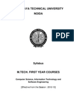 M.tech 1st Year Syllabus of CS and IT and SW of Session 2012-13