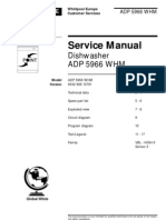 Whirlpool Service Manual Dishwasher ADP5966WHM Version91