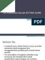 Tes Psikologi Dalam Setting Klinis