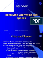 Improving Your Voice and Speech