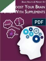 Memory Supplements Free Bonus