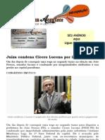 Juíza condena Cícero Lucena por improbidade