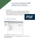 Sauvegarde Avec Windows Server Backup sous Windows Server 2008