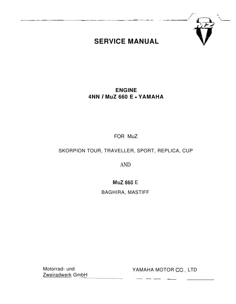 Mz Skorpion Wiring Diagram Library Komatsu Pc75uu 1 Muz 660 E Yamaha Ignition System Engines