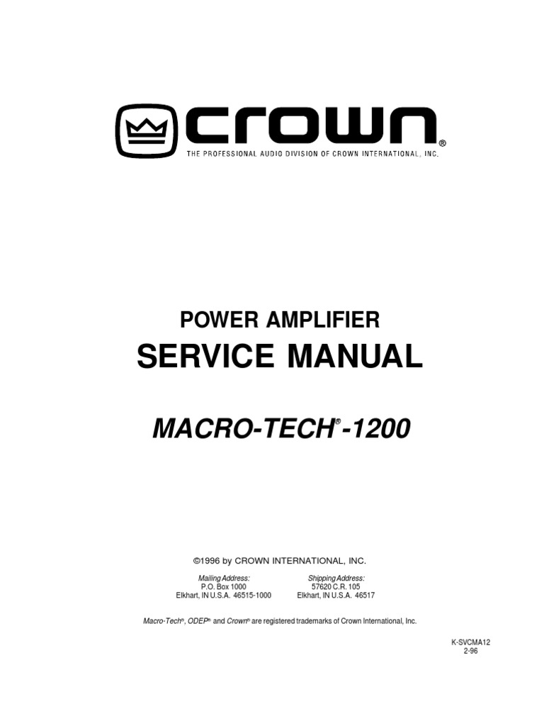 Ma1200 Service Manual Amplifier Operational Subwoofer Filter With Lm741