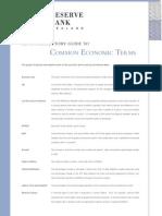Common Economic Terms