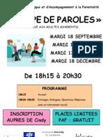 Affiche 3 Groupe de Paroles 2012