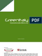 Rapporto GreenItaly 2011 - Fondazione Symbola