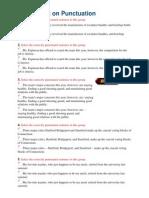 Quiz on Punctuation 15.10.12
