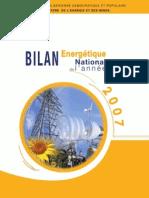 Bilan Energetique National 2007
