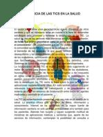 ENSAYO INCIDENCIA DE LAS TICS EN LA SALUD YULEISI OÑATE UPC INFORMATICA I GRUPO 18