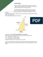 Belajar Rumus Trigonometri Praktis